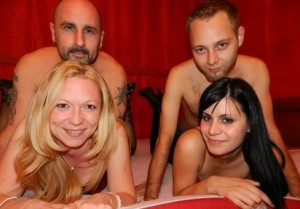 livesex paare - JackHart+BlondeJill+HeisserPete+Ann